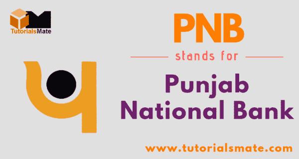 PNB Full Form