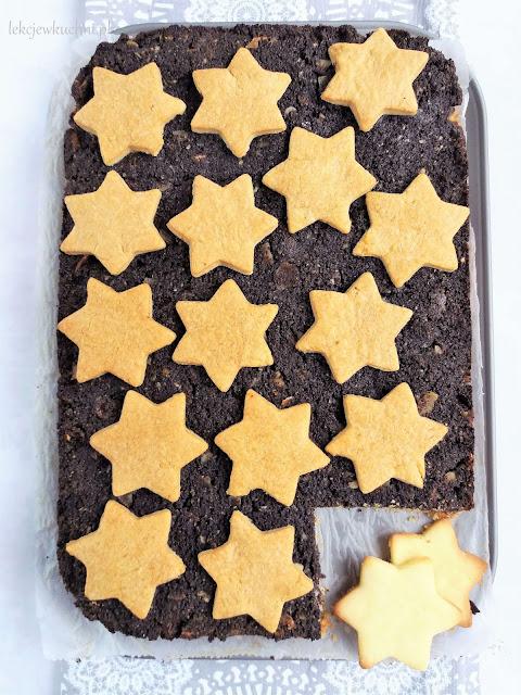 Makowiec z gwiazdkami na kruchym cieście / Poppy Seed Shortcake