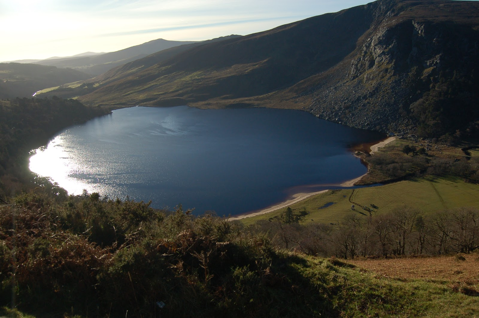 lago guinness, wicklow mountains