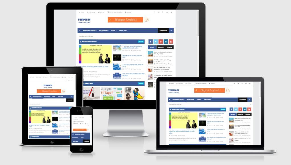Share template template blogspot chuẩn HTML5
