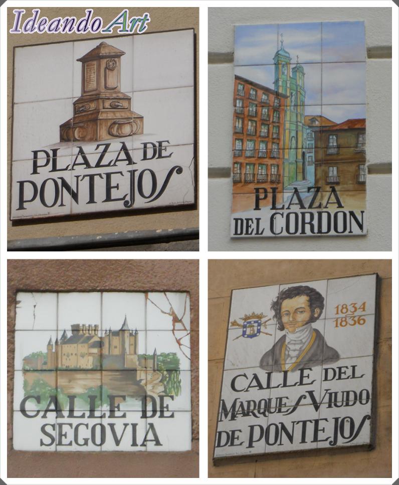 Azulejos ilustrados calles Madrid