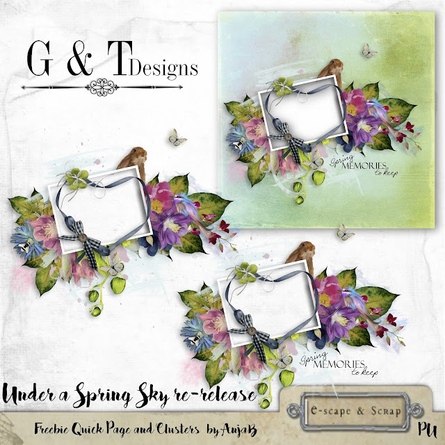G&T Designs - Under A Spring Sky Re-release & Freebie