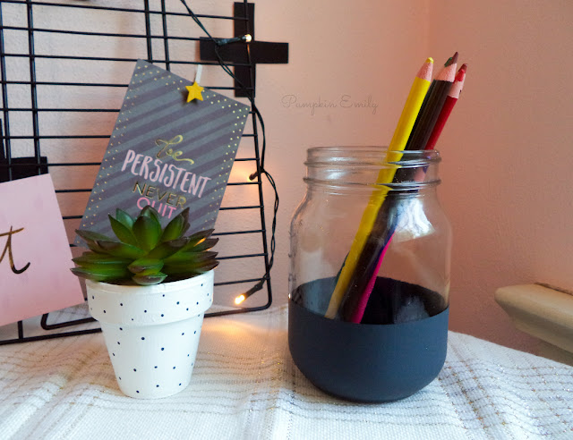 DIY Polka Dot Flower Pot and a DIY Striped Mason Jar