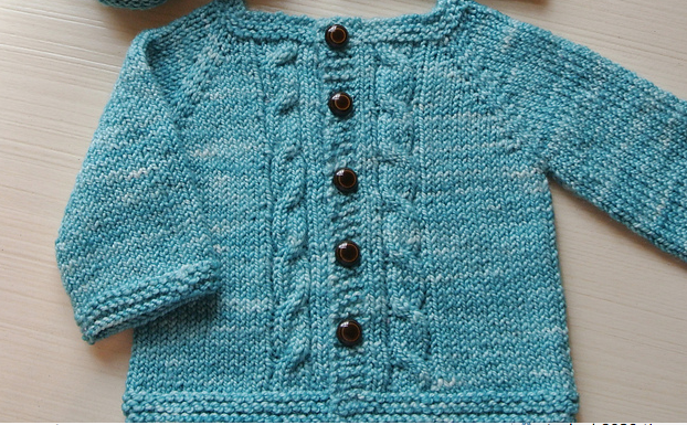 ea431a6bd Top Ten FREE baby sweater patterns - Knitionary