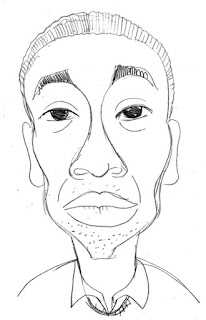 Chris Ofili Caricature by Ian Davy Brown