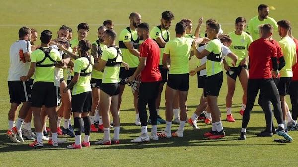 Málaga, regresan al entrenamiento Escassi y Joaquín; Caye estuvo en el gimnasio