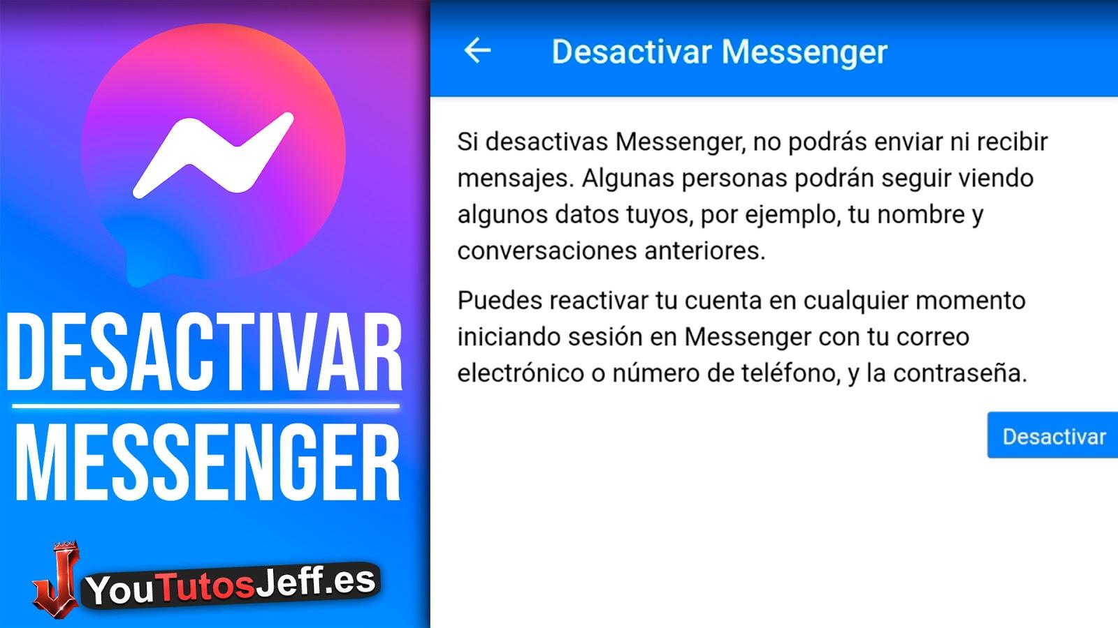 Como DESACTIVAR Facebook Messenger