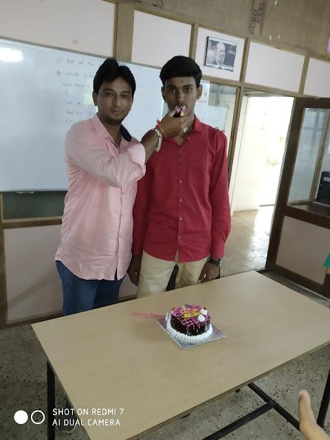 kuldip patil birthday celebration with manoj desle sir