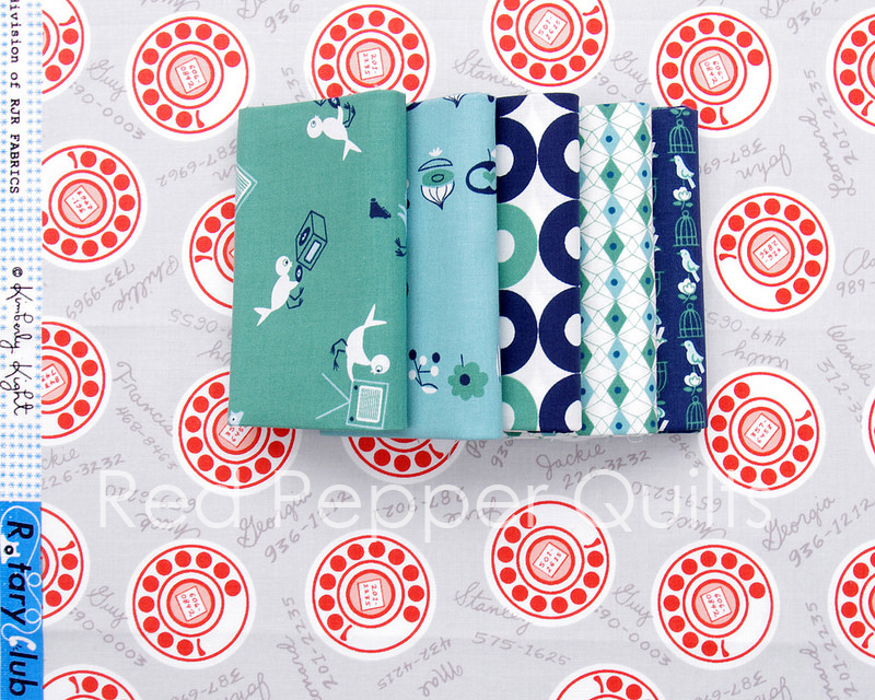 Rotary Club by Kim Kight for Cotton + Steel | Red Pepper Quilts 2016