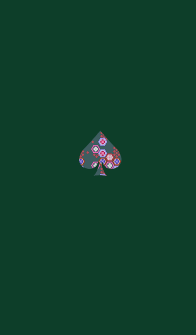 Spades Japanese Pattern Green