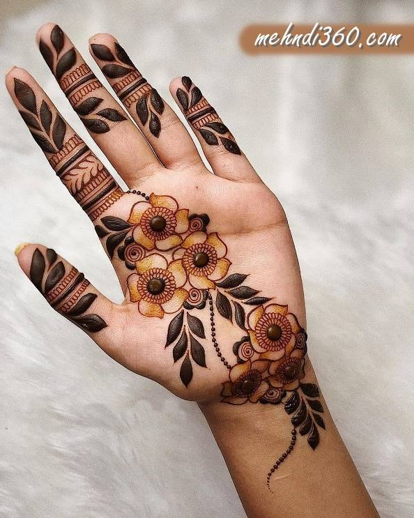 Eid Mehndi Design for Front Hand