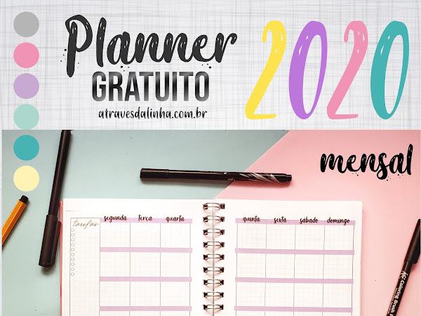 Planner 2020 #4: Mensal gratuito para download