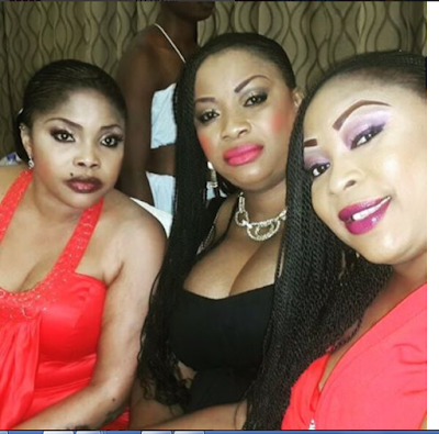 Actress Lola Alao Strikes Poses With Kogi State 1st Lady As She Empowers Kogi Youths