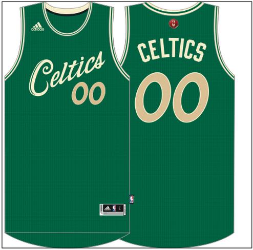 the latest 95e1d e7aa9 celtics christmas jersey