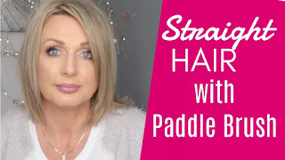 How To Straighten Hair With a Paddle Brush
