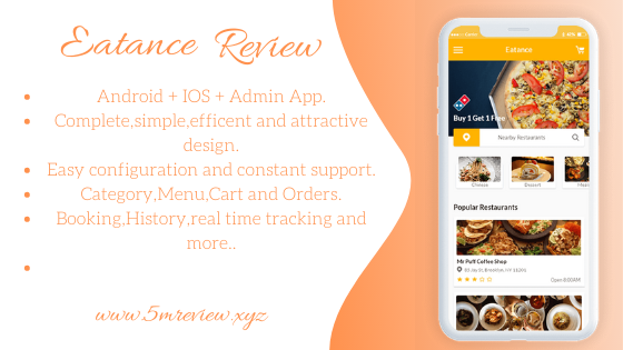 Eatance Review - Food Delivery & Driver App
