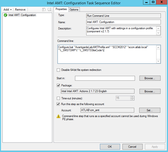 Intel SCS Task Sequences not working with SCCM 2012 R2