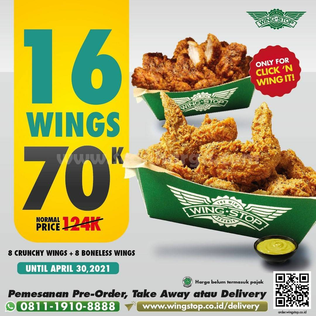 Promo WINGSTOP Terbaru 3 - 30 April 2021