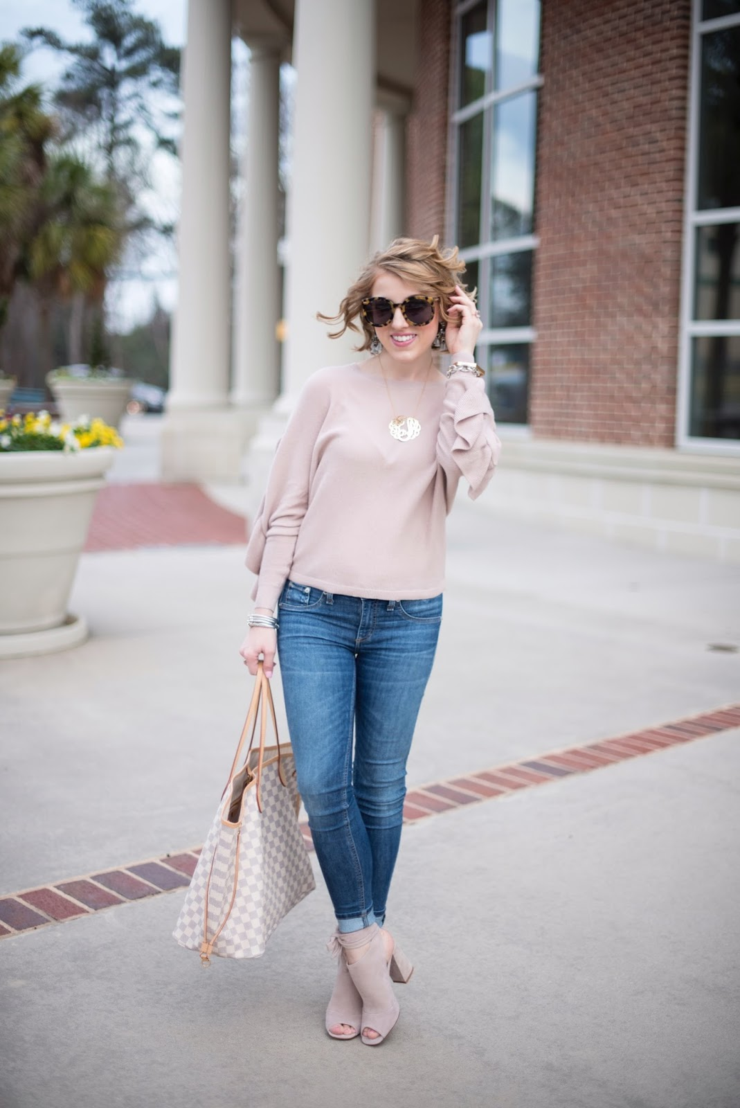 Blush Pink Sweater - Something Delightful Blog