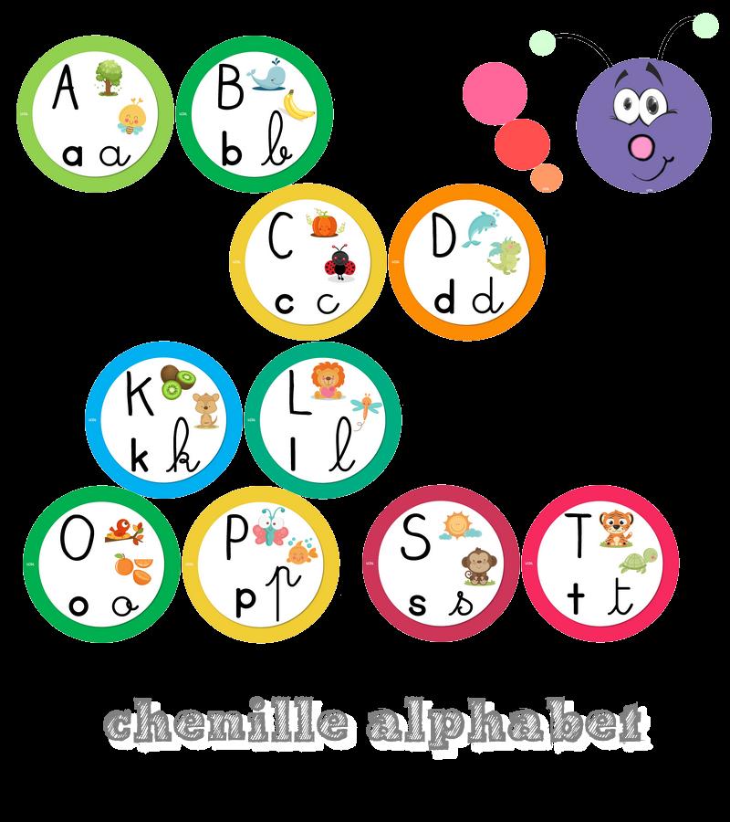 La Maternelle De Laurene La Chenille De L Alphabet