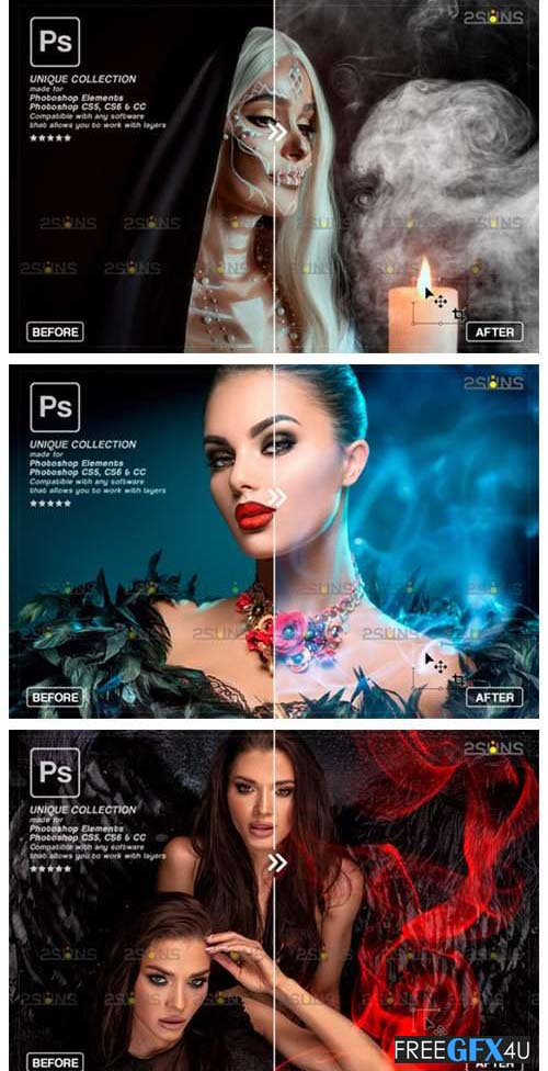 Fog Overlay Photoshop PNG Pack