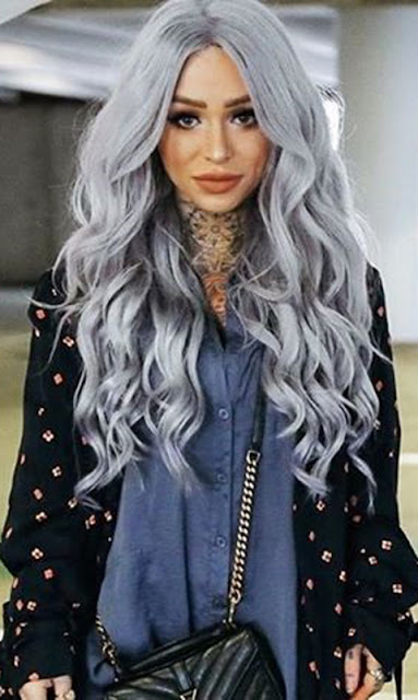 gray trendy hair goals