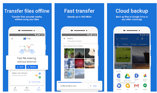 Google Files reaches more than 500 million downloads in the Play Store
