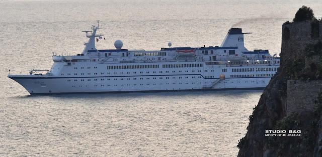 """Στο Ναύπλιο κατέπλευσε το κρουαζιερόπλοιο """"Berlin"""""""