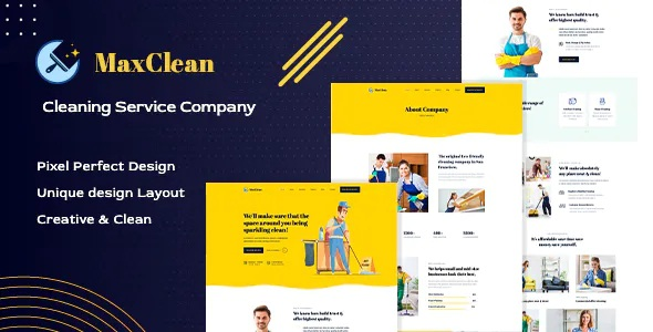 Best Cleaning Company PSD Template