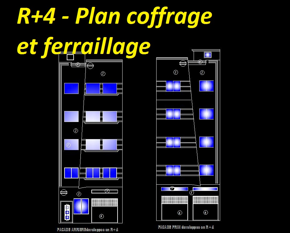 plan habitat collectif dwg