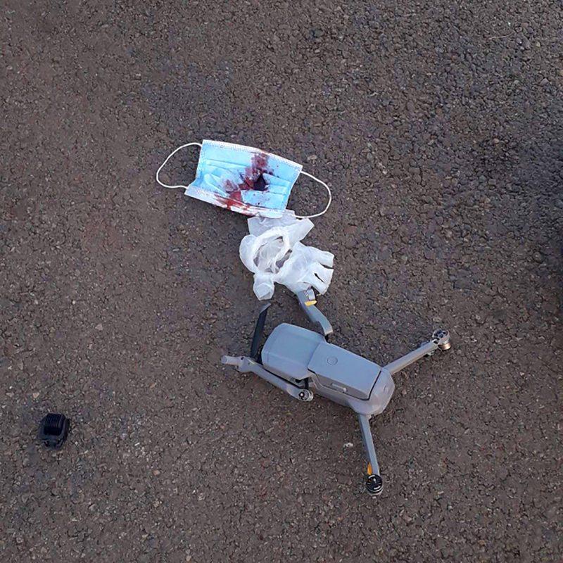 Drone chocó a helicóptero de la Armada e hirió al piloto en el rostro