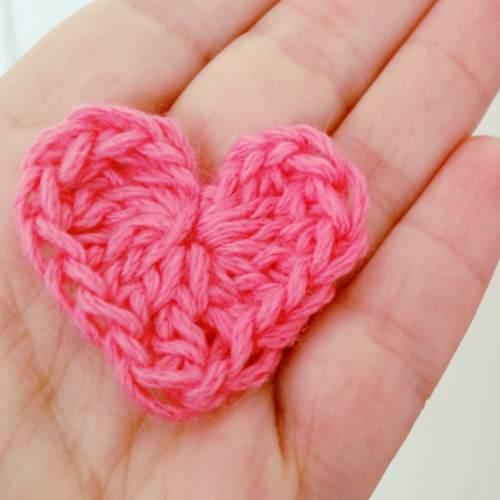 tejer corazón pequeño ganchillo crochet tutorial paso a paso