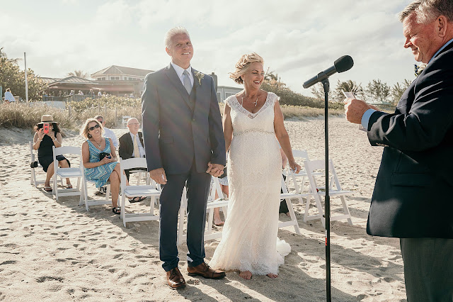 Bride and Groom being pronounced husband and wife