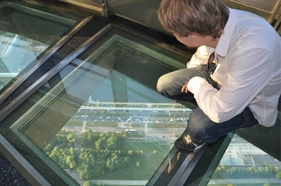 Design of glass floors