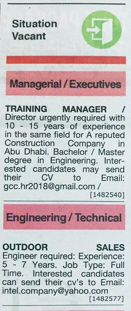 Gulf News uae JOBS 27 March, 2019