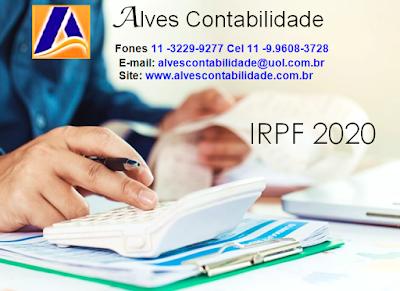 Precisa entregar sua IRPF 2020 Conte com a Alves Contabilidade