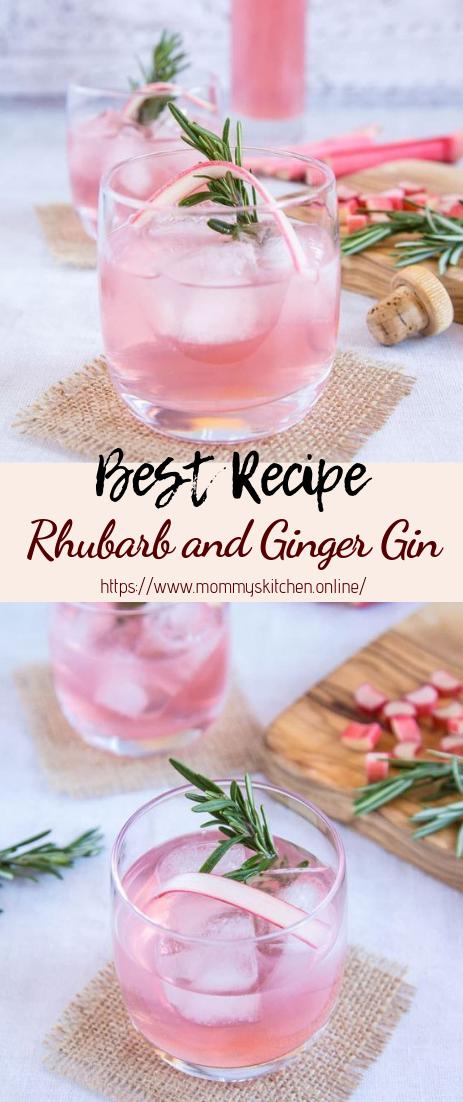 Rhubarb and Ginger Gin #healthydrink #easyrecipe