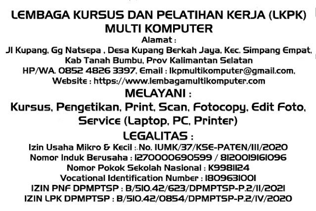 Plang LKPK Multi Komputer