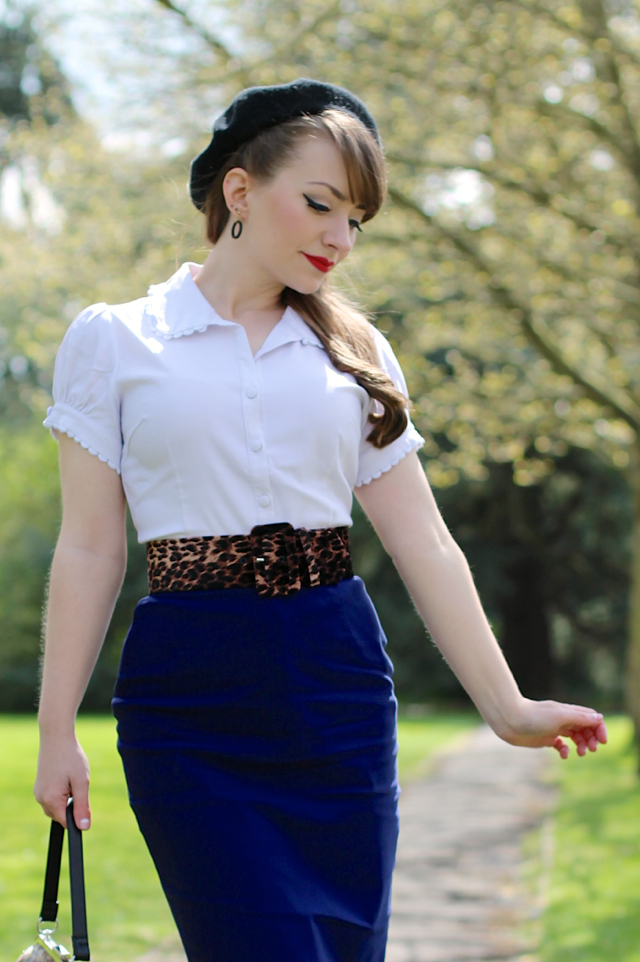 Sourpuss Lolita shirt, classic pencil skirt