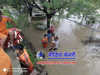 SDRF Rajasthan news Hadauti Flood SDRF became troubleshooter in Sangod Saved rescue over 150 people lives safely