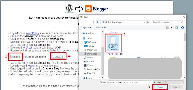 Convert Ekspor WordPress