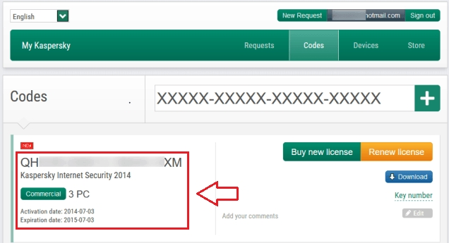 recover kaspersky license key