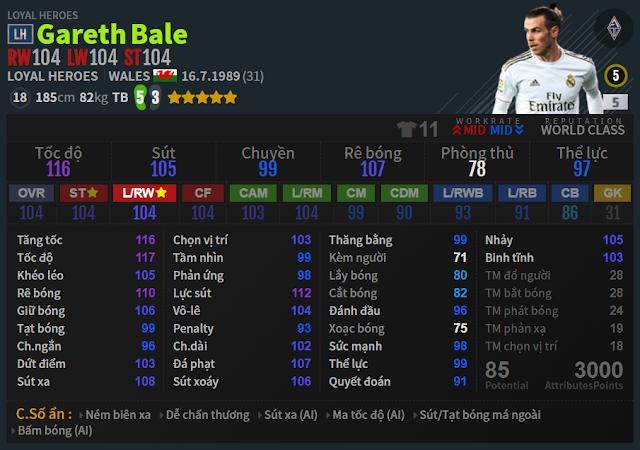 Review Gareth Bale LH | Đôi cánh bạc