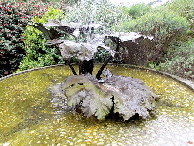 Fountain at Trebah Gardens
