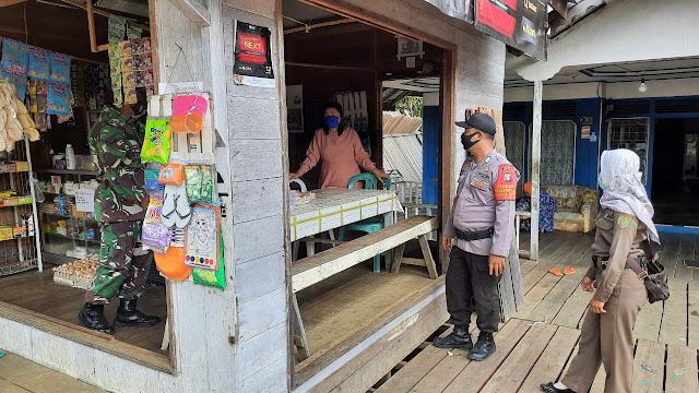 Polsek Pematang Karau laksanakan Sambang warung  warga desa Ketab
