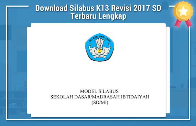 Download Silabus K13 Revisi 2017 SD Terbaru Lengkap