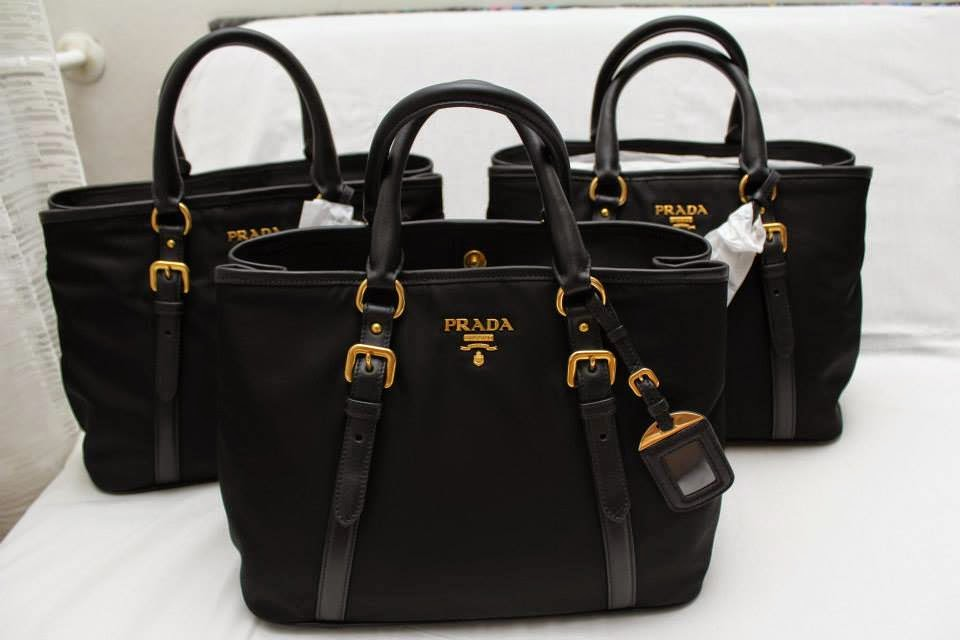 2a335745be93 Prada Black Nylon Tote