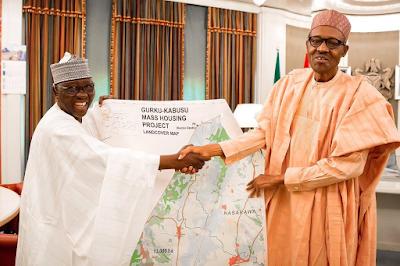 Photos: Buhari receives Nassarawa state governor