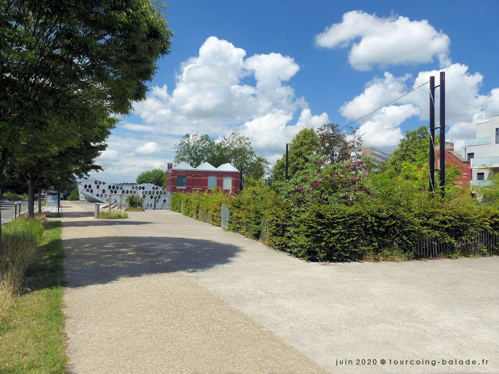 Jardin des Lettres et Médiathèque Chédid, Tourcoing 2020