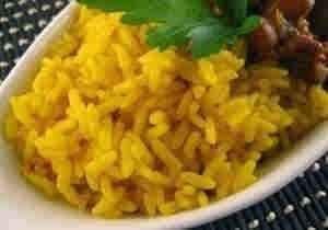 ارز اصفر بالدجاج والخضراوات